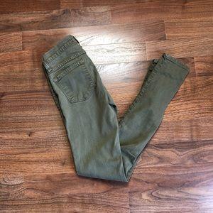Flying Monkey Olive Green Skinny Jeans 24